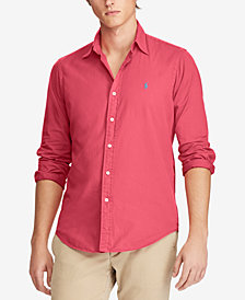 Polo Ralph Lauren Men's Classic Fit Garment Dyed Chino Shirt