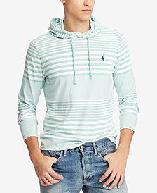 Polo Ralph Lauren Men's Big & Tall Striped Hooded T-Shirt