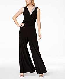 MSK Embellished Surplice Jumpsuit