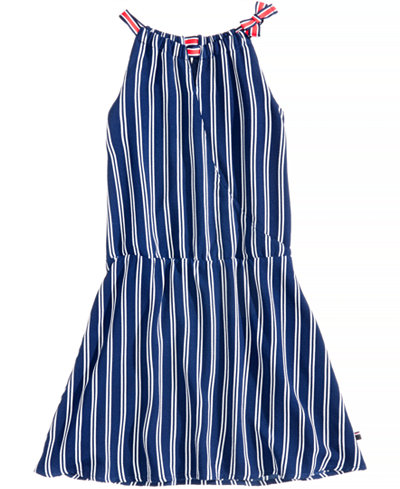 Tommy Hilfiger Drop Waist Wrap Dress, Big Girls