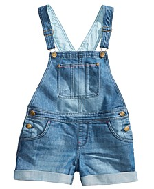타미 힐피거 걸즈 멜빵바지 Tommy Hilfiger Denim Tommy Hilfiger Big Girls Denim Shortall,Parisian Blue
