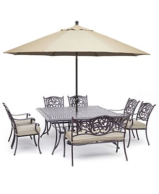 Chateau Outdoor Aluminum 8-Pc. Dining Set (64