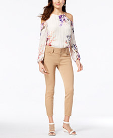 Thalia Sodi Cold-Shoulder Top & Skinny Ankle Pants, Created for Macy's