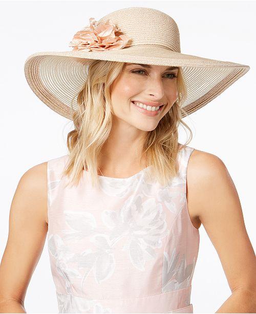 ee3eb08a2912e2 Nine West Flower Super-Floppy Hat & Reviews - Handbags ...