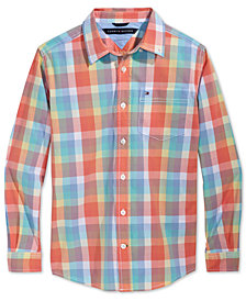 Tommy Hilfiger Plaid Shirt, Big Boys