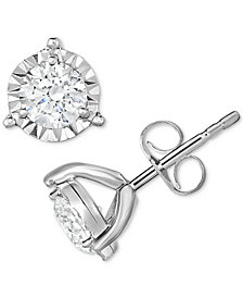 TruMiracle® Diamond Stud Earrings (1/3 ct. t.w.) in 14k White Gold