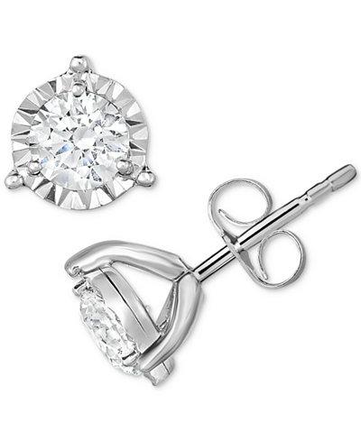 TruMiracle® Diamond Stud Earrings (1/3 ct. t.w.) in 14k White Gold