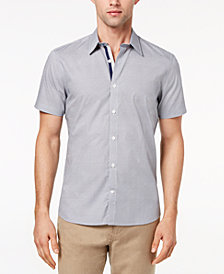 Ryan Seacrest Distinction™ Men's Slim-Fit Navy Geo-Print Sport Shirt, Created for Macy's