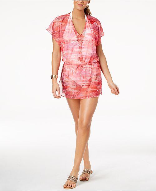 3804ed4d96dfb Lauren Ralph Lauren Calypso Ikat-Print Tunic Cover-Up & Reviews ...