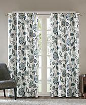 SunSmart Camille Textured Floral-Print Room Darkening Window Panels