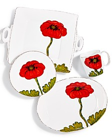 Vietri Lastra Poppy Collection