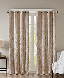 "SunSmart Mirage 50"" x 108"" Knit Damask Total Blackout Window Panel"