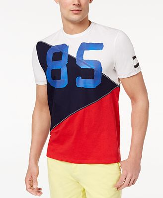 Tommy Hilfiger Men's 85 Pieced Colorblocked Graphic-Print T-Shirt, Created  for Macy's