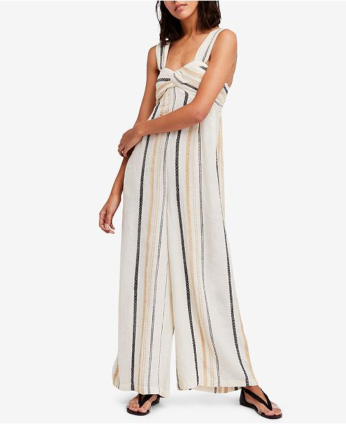 fc1e526d91aa Free People Breezin Through Striped Cotton Jumpsuit   Reviews ...
