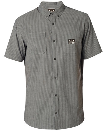 Fox Men's Short Sleeve Button Down Shirt - Casual Button-Down ...