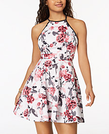 Speechless Juniors' Tiered Fit & Flare Dress, Created for Macy's