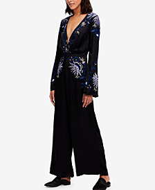 Free People Gypsy Rose Embroidered Jumpsuit