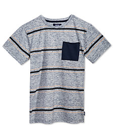 Univibe Simon Striped Pocket T-Shirt, Big Boys