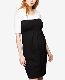 Isabella Oliver Isabella Oliver Maternity Dress, Short Sleeve Ruched