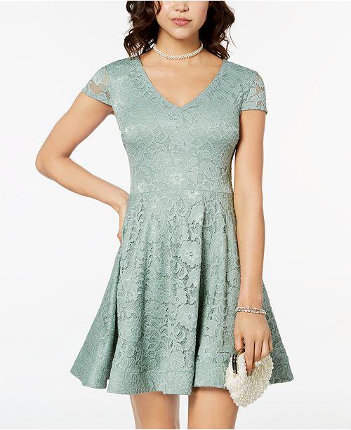 2cc3196c0c B Darlin Juniors  Tie-Back Lace Fit   Flare Dress - Dresses ...