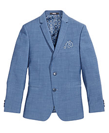 DKNY Solid Blue Suit Jacket, Big Boys