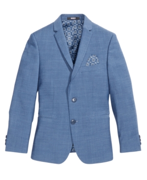 Dkny Solid Blue Suit...