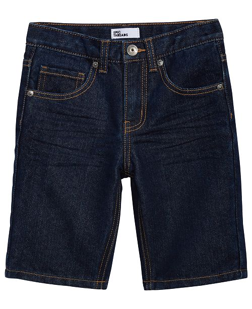 Epic Threads Clean Edge Denim Shorts, Little Boys, Created for Macy's