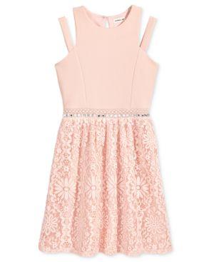Monteau Embellished-Waist Dress, Big Girls 5733435