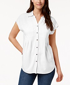 Petite Pleated Blouse, Created for Macy's