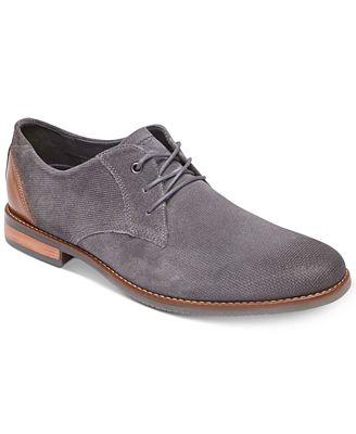 Rockport Style Purpose Plain Toe Oxford(Men's) -New Dress Blues Suede
