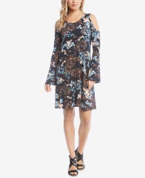 Karen Kane Cold-Shoulder A-Line Dress 5702034