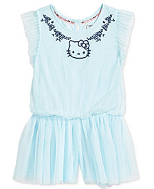 Hello Kitty Mesh Romper, Little Girls