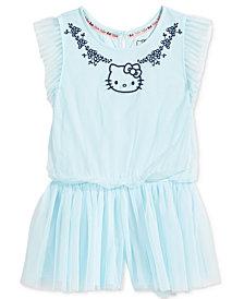 Hello Kitty Mesh Romper, Little Girls