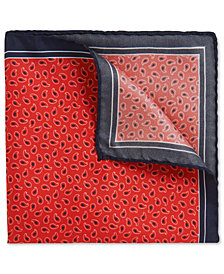 BOSS Men's Patterned Italian Silk Twill Pocket Square