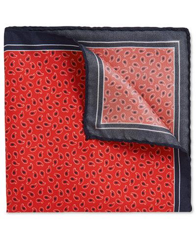 BOSS Men's Patterned Italian Silk Twill Pocket Square
