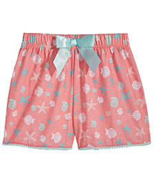 Max & Olivia Graphic-Print Pajama Shorts, Little Girls & Big Girls
