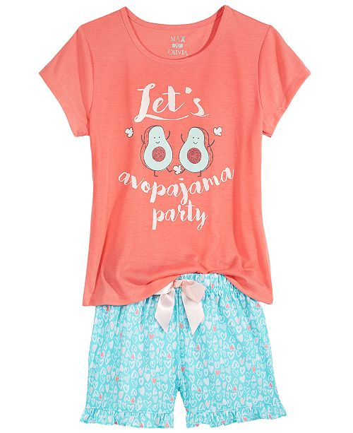 a2c41629a Max   Olivia Avocado Graphic-Print Pajama Top   Pants