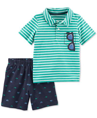 Carter's 2-Pc. Striped Polo & Shorts Set, Toddler Boys