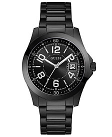 GUESS Men's Black Stainless Steel Bracelet Watch 42mm