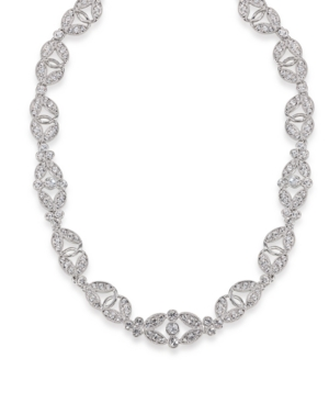 Carolee Necklace, Glass Stone Ornate Collar
