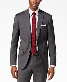Men's Modern-Fit Stretch Textured Suit Jacket