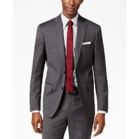 DKNY Men's Modern-Fit Stretch Textured Suit Jacket (Charcoal)