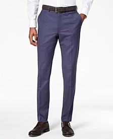 Men's Modern-Fit Stretch Textured Suit Pants