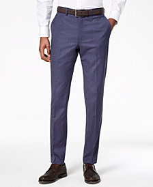 DKNY Men's Modern-Fit Stretch Textured Suit Pants