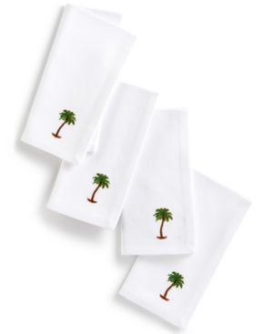 Leila's Linens Palm Tree Set of 4 Napkins 5712272