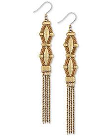 Lucky Brand Gold-Tone & Rope Chain Tassel Drop Earrings
