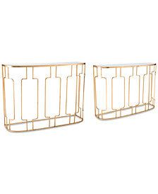 Roma Console Table (Set Of 2), Quick Ship