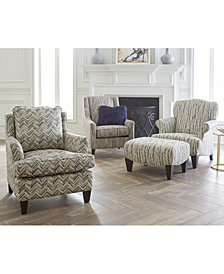 Walton Fabric Press Back Chair & Ottoman Collection