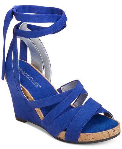 Aerosoles Lilac Plush Wedge Sandals