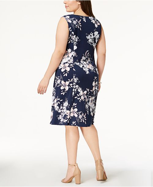 7953d74dc1f Jm Collection Plus Size Keyhole Neck Dress Created For Macy S